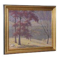 Andrew T. Schwartz (New York, 1867-1942) Fall Landscape Oil Painting c.1920s