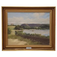 Early 20th Century Country Landscape Painting