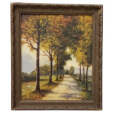 Golden West Autumn Path in the Country by Dave Mitchell c.1924