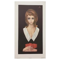 "Margaret Keane ""The Black Dress' Vintage Lithograph c.1962"