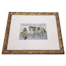 """A Winter Walk"" Original Watercolor Illustration"
