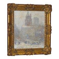 New York City Winter Original Oil on Canvas