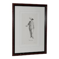 "Limited Edition Contemporary Etching ""Pollicinella"" After Maurice Sand"