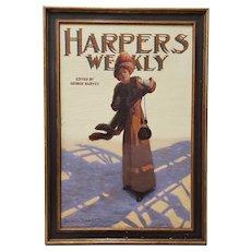 "George Watson Barratt (American, 1884-1962) ""Harpers Weekly"" Original Illustration c.1912"