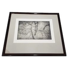 """Henry Spencer Moore (1898-1986) """"Spreading Branches"""" Original Signed Etching"""