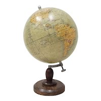 Globe Terrestre by Girard, Barrere & Thomas, Paris, France c.1920