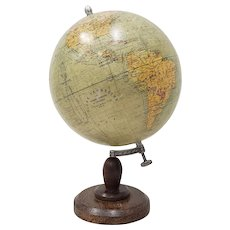 Globe Terrestre by Girard, Barrere & Thomas, Paris, France c.1920