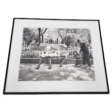 "Leo Theinert (American) ""Clean Sweep"" Original Black and White Silver Gelatin Photograph 20th c."