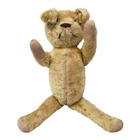 Old School Stuffed Plush Bear (Possibly Steiff) Vintage & Adorable