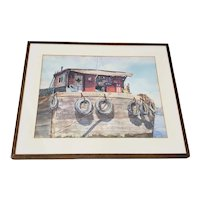 "Harold Herman ""M.E. Closson of New York"" Original Watercolor c.1960s"