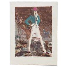 "Don Dolan ""Rosie Afraid"" Monoprint c.1980"