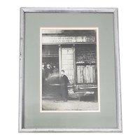 "Silver Gelatin Photograph ""Jewish Deli, Poland"" c.1930"