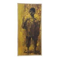 """Juan Chamizo """"Director de Musica"""" Original Mid Century Oil Painting c.1965"""