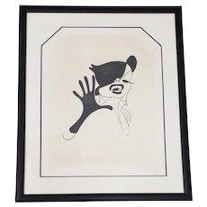 "Al Hirschfeld ""Judy Garland"" Hand Signed Limited Edition Etching c.1963"