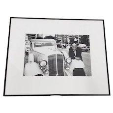 "Leo Theinert (American) ""Daddy Warbucks"" Original Black and White Silver Gelatin Photograph 20th c."