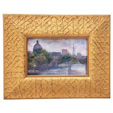 A Diminutive Watercolor Painting of Paris in Morning Light