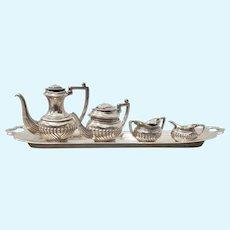 Miniature Sterling Coffee & Tea Set with British Hallmarks