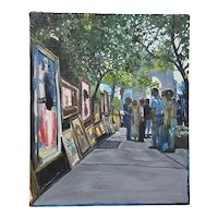 "Don Semich ""The Greenwich Village Art Show"" Original Oil Painting"