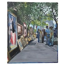"""Don Semich """"The Greenwich Village Art Show"""" Original Oil Painting"""