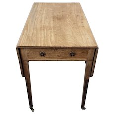 18th Century American Pembroke Single Drawer Drop Leaf Table
