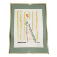 "Peter Max ""Standing Figure"" Original Color Lithograph c.1970s"