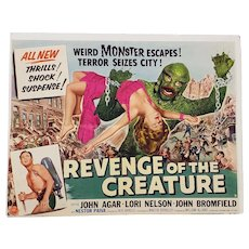 "Vintage ""Revenge of the Creature"" Half Sheet Movie Poster c.1955"
