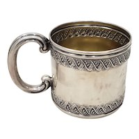 Late 19th Century Sterling Silver Christening Cup c.1896