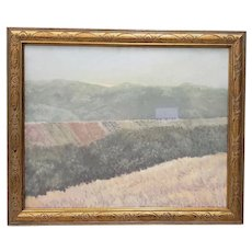 "Vintage Oil Painting ""Barn in the Distance"" c.1970s"
