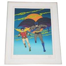 "Bob Kane ""Batman and Robin"" Lithograph c.1978 Artist Proof"