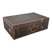 Vintage Louis Vuitton Signature Brown Leather Embossed Trunk