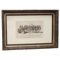 War Dance Of The Sauks And Foxes Hand Colored Lithograph c.1837