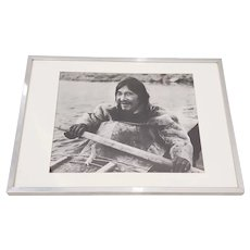 "Vintage ""Eskimo"" Framed Photograph by the Education Development Center c.1967"