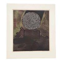 "Gonzalez Tornero, Sergio (Chile, b. 1927) ""Apocalyptic Scene"" Etching w/ Aquatint c.1967"