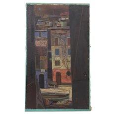"John Teyral  (Russian / American 1912 - 1999) ""Venice Canal"" Original Oil Painting c.1952"