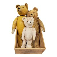 The Three Bears - Family of Stuffed Bears - Possibly Steiff