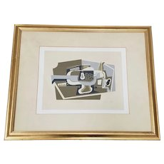 "Juan Gris (1887-1927) Cubist Still Life ""Le Compotier"" Serigraph Framed"