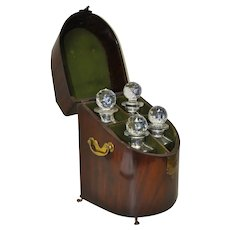 Exceptional 18th Century Rosewood Cased Liquor Decanter Set