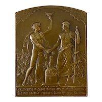 """Art Nouveau Bronze """"Mariani Cocoa Wine"""" w/ Bacchus by P. Lenoir c.1909"""