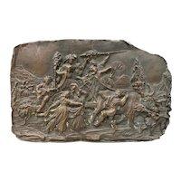 19th Century Bronze Raised Relief Plaque