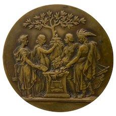 St Louis Worlds Fair Bronze Medallion c.1904