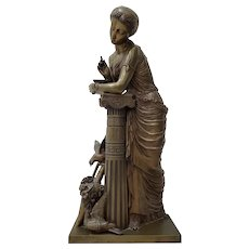 19th Century Fonderie Nationale des Bronzes Sculpture of an Elegant Young Woman