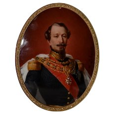 Fine Portrait Miniature of a Military Man with Medals