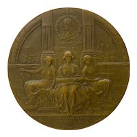 Hudson River - Robert Fulton Commemorative Bronze Medallion c.1909