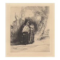 20th Century Etching After Rembrandt