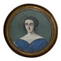 19th c. Marie Louise d'Orléans Portrait Miniature