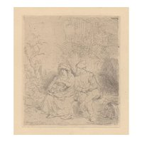 The Rest on the Flight into Egypt - After Rembrandt
