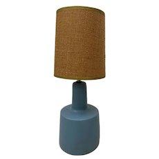 Jane & Gordon Martz Periwinkle Blue Table Lamp c.1960