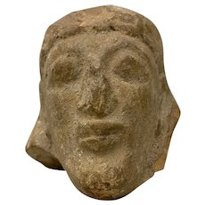 Antiquities Carved Stone Head