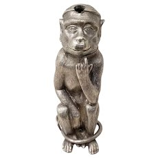 Rare Mid 19th Century Monkey Shaker by Perfumer Jones, London & Paris