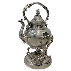 Silver Britannia Electro Plate Teapot on Tilting Stand w/ Burner